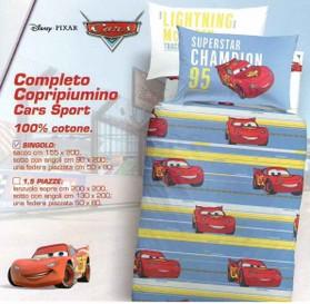 Copripiumino Cars 1 Piazza E Mezzo.Cars Sport Disney Completo Copripiumino