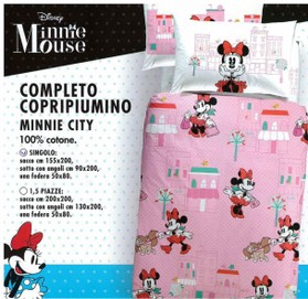 Minnie City completo copripiumino
